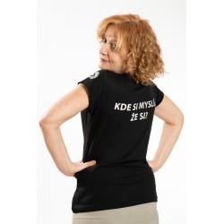 """dámske tričko 1984 – """"KDE SI MYSLÍŠ, ŽE SI?"""""""