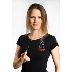 """dámske tričko Pán Biedermann a podpaľači – """"BENZÍN JE BENZÍN"""""""