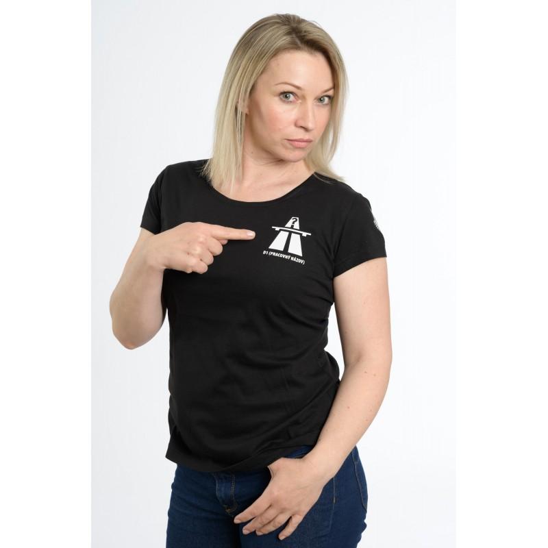 """dámske tričko D1 (pracovný názov) – """"A SRDCE POVEDALO VIŠŇOVÉ"""""""